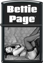 BETTIE PAGE SEDUCTRESS - BLACK MATTE ZIPPO
