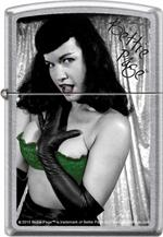 BETTIE PAGE GREEN BRA ZIPPO LIGHTER