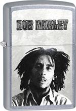 Bob Marley Zippo Lighter - B&W Face Street Chrome