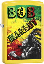 Bob Marley Zippo Lighter - Dreads Yellow Matte