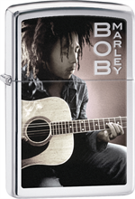 Bob Marley Zippo Lighter - Guitar High Polish Chrome
