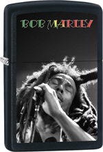 Bob Marley Zippo Lighter - Singing Black Matte