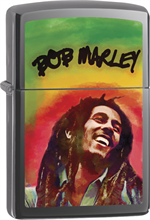 Bob Marley Zippo Lighter - Laugh Black Ice