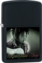 Bob Marley Zippo Lighter - Playing Guitar Black Matte