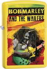 Bob Marley Zippo Lighter - The Wailers Yellow Matte