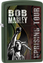 Bob Marley Zippo Lighter - Uprising Tour Green Matte