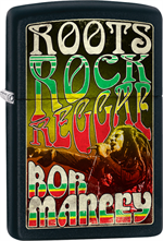 Bob Marley Zippo Lighter - Roots, Rock Reggae Street Chrome
