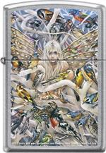 CALL OF THE WILD by: Sheila Wolk Brushed Chrome Zippo Lighter