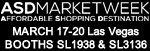 ASD Market Week March 17-20 Las Vegas Booths SL1938 & SL3136